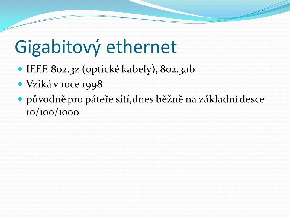 Gigabitový ethernet IEEE 802.3z (optické kabely), 802.3ab