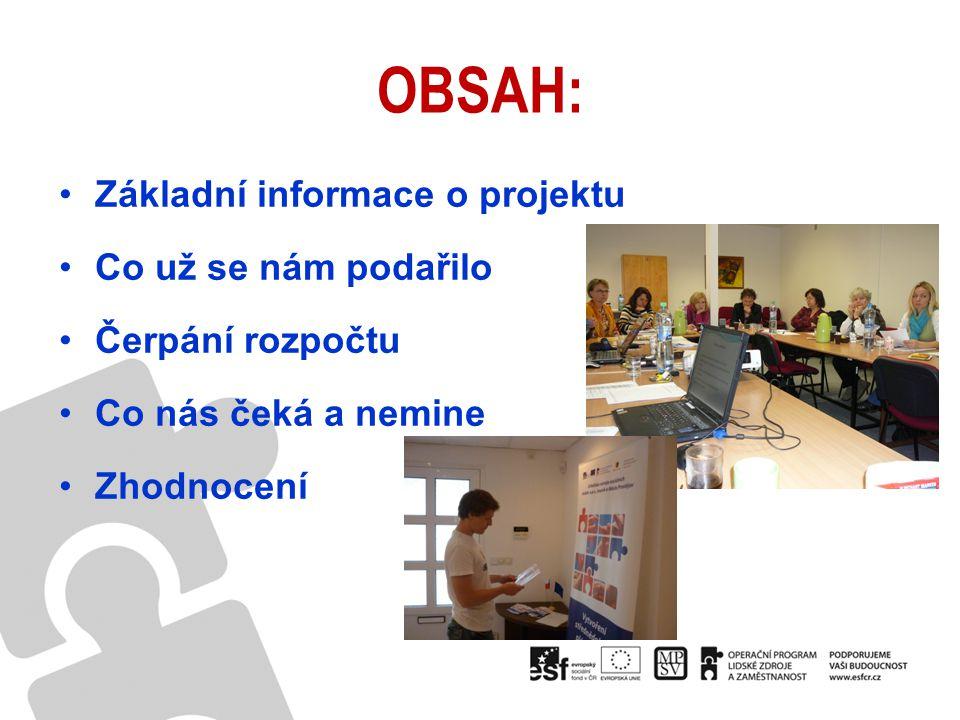 OBSAH: Základní informace o projektu Co už se nám podařilo