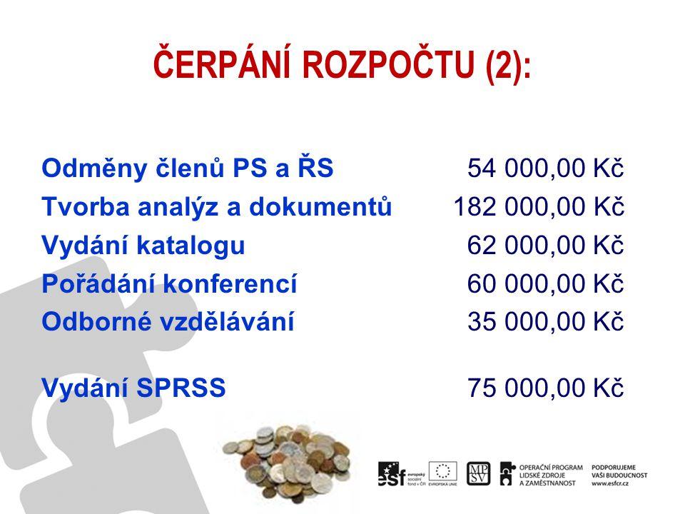 ČERPÁNÍ ROZPOČTU (2):