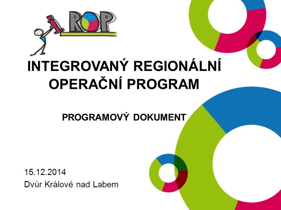 Integrovaný regionální operační program Programový dokument