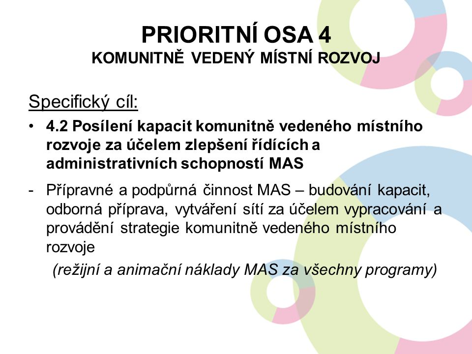 Prioritní osa 4 komunitně vedený místní rozvoj