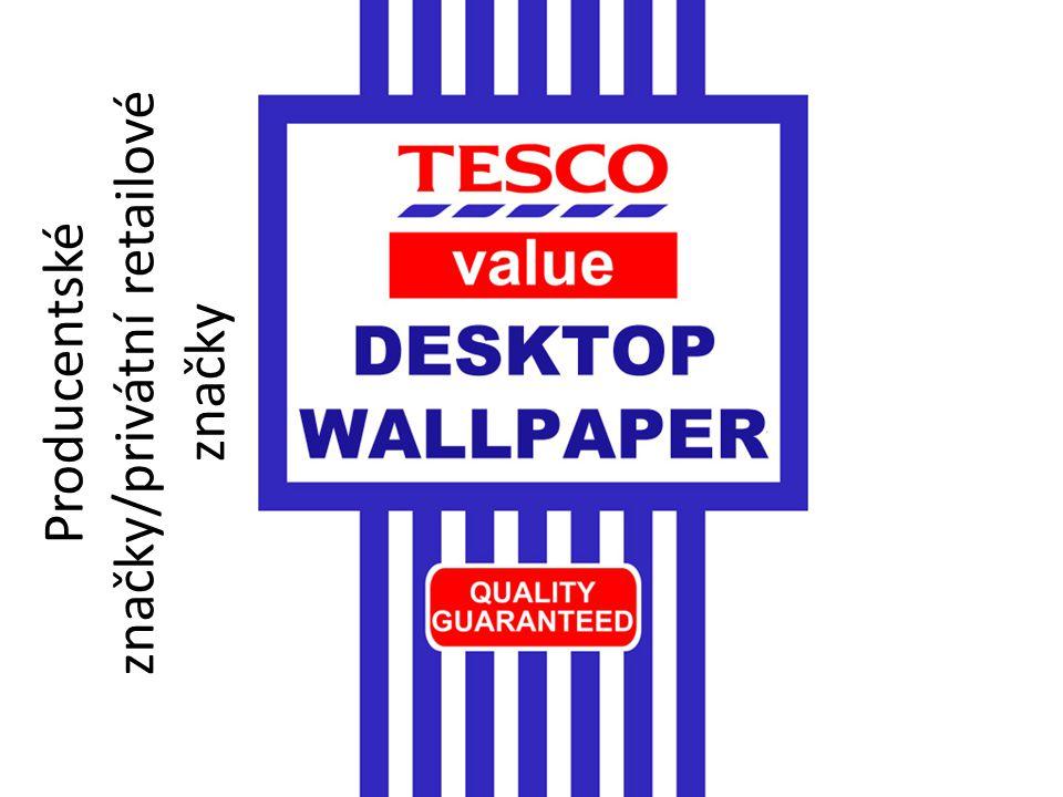 Producentské značky/privátní retailové značky