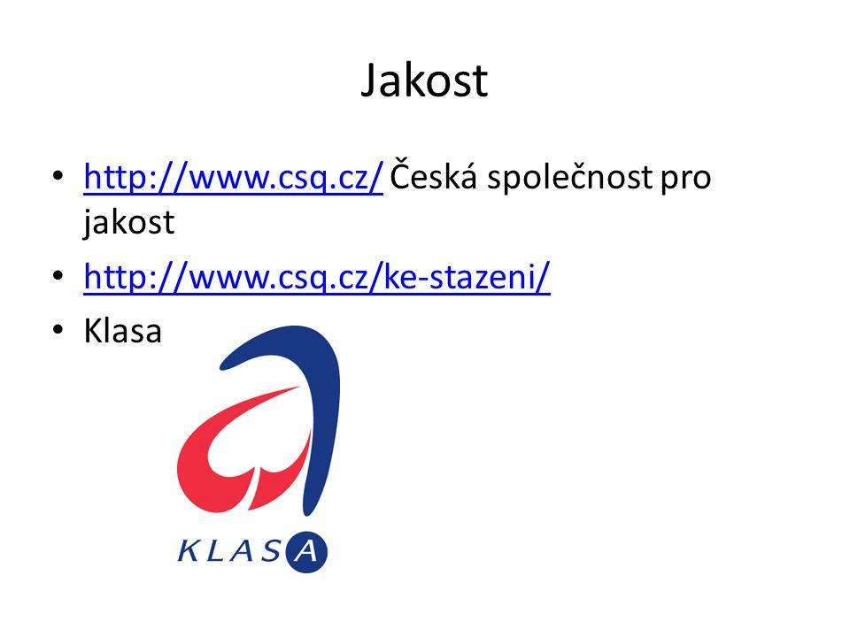 Jakost http://www.csq.cz/ Česká společnost pro jakost