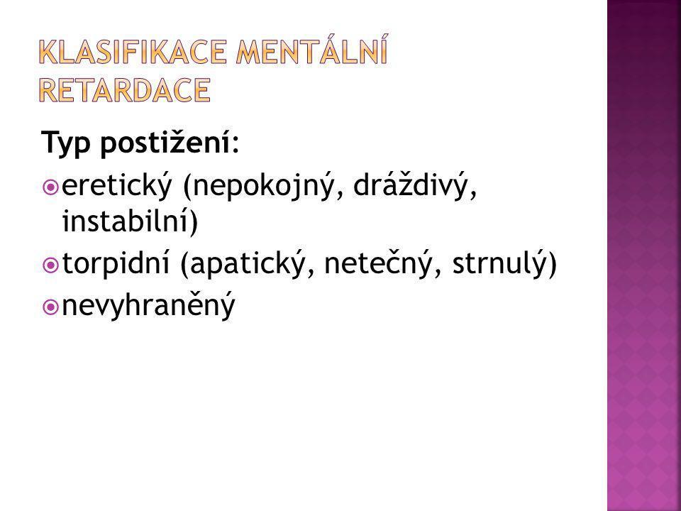 Klasifikace mentální retardace