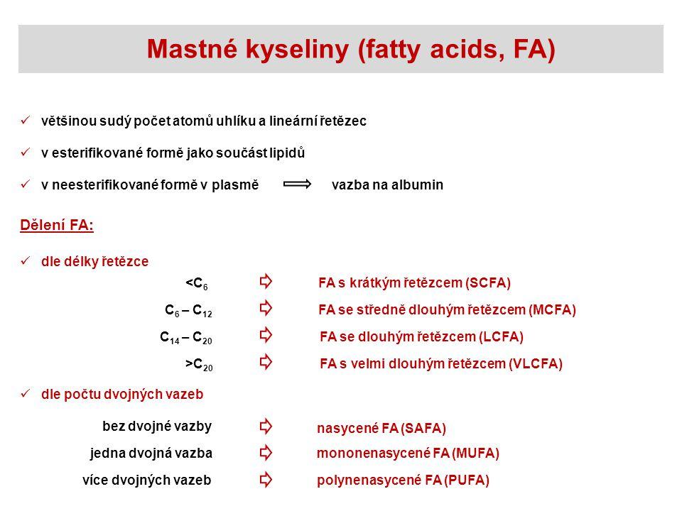 Mastné kyseliny (fatty acids, FA)