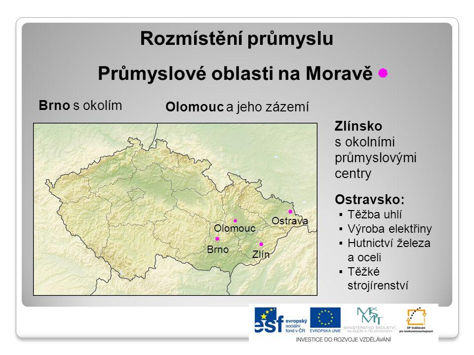 Průmyslové oblasti na Moravě
