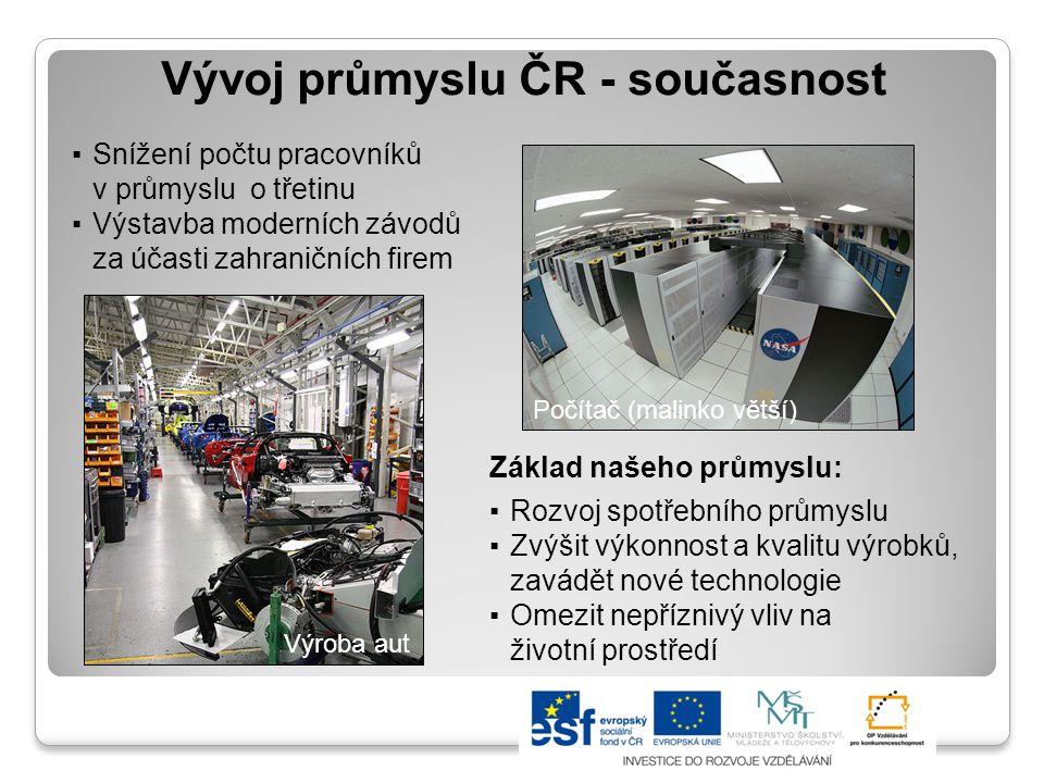 Vývoj průmyslu ČR - současnost