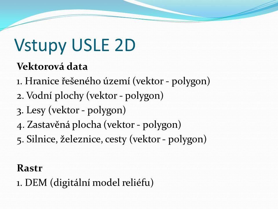 Vstupy USLE 2D Vektorová data