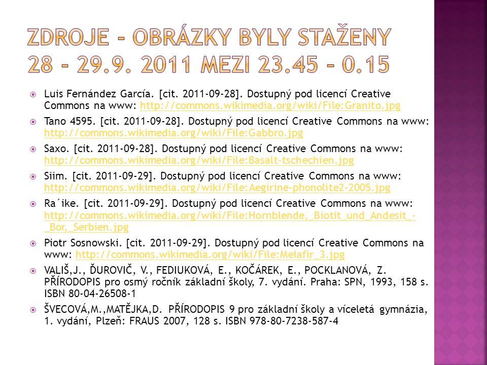 ZDROJE - OBRÁZKY BYLY STAŽENY 28 - 29.9. 2011 MEZI 23.45 – 0.15