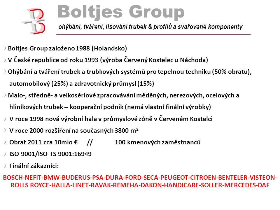 Boltjes Group tube bend ohýbání, tváření, lisování trubek & profilů a svařované komponenty