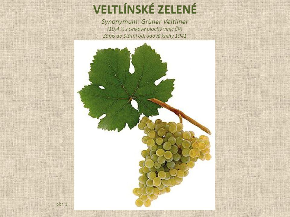 Veltlínské zelené Synonymum: Grüner Veltliner