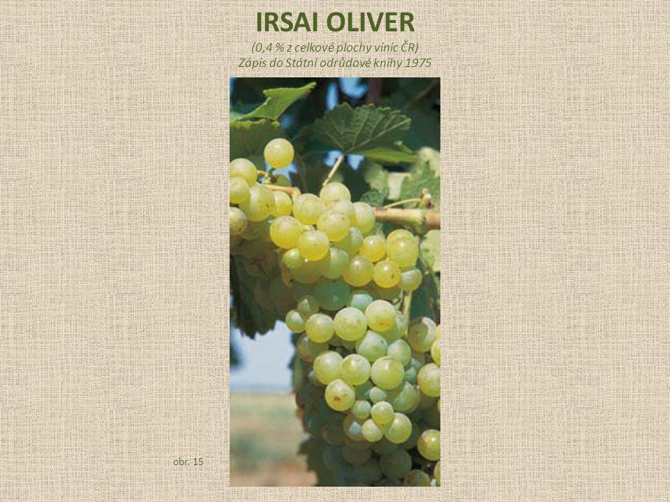IRSAI OLIVER (0,4 % z celkové plochy vinic ČR)