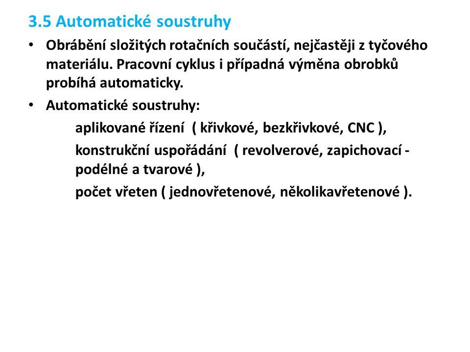 3.5 Automatické soustruhy