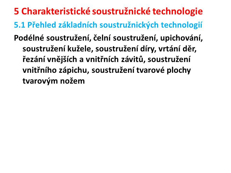 5 Charakteristické soustružnické technologie