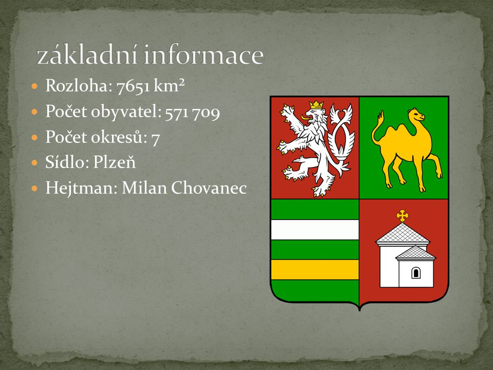 základní informace Rozloha: 7651 km² Počet obyvatel: 571 709