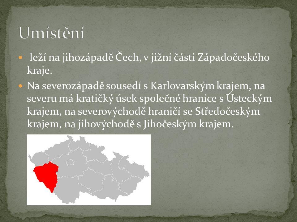 Umístění leží na jihozápadě Čech, v jižní části Západočeského kraje.