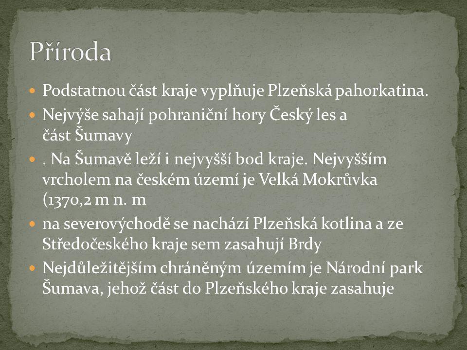 Příroda Podstatnou část kraje vyplňuje Plzeňská pahorkatina.