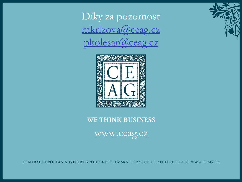 Díky za pozornost mkrizova@ceag.cz pkolesar@ceag.cz www.ceag.cz