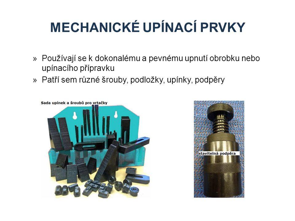 Mechanické upínací prvky
