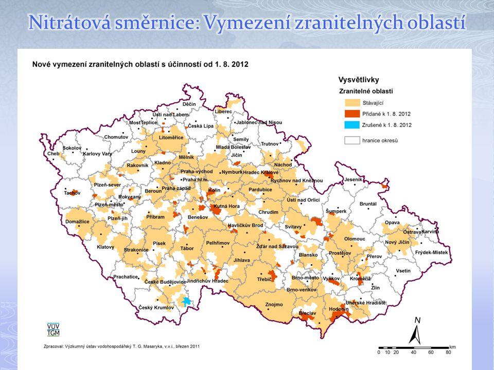 Nitrátová směrnice: Vymezení zranitelných oblastí