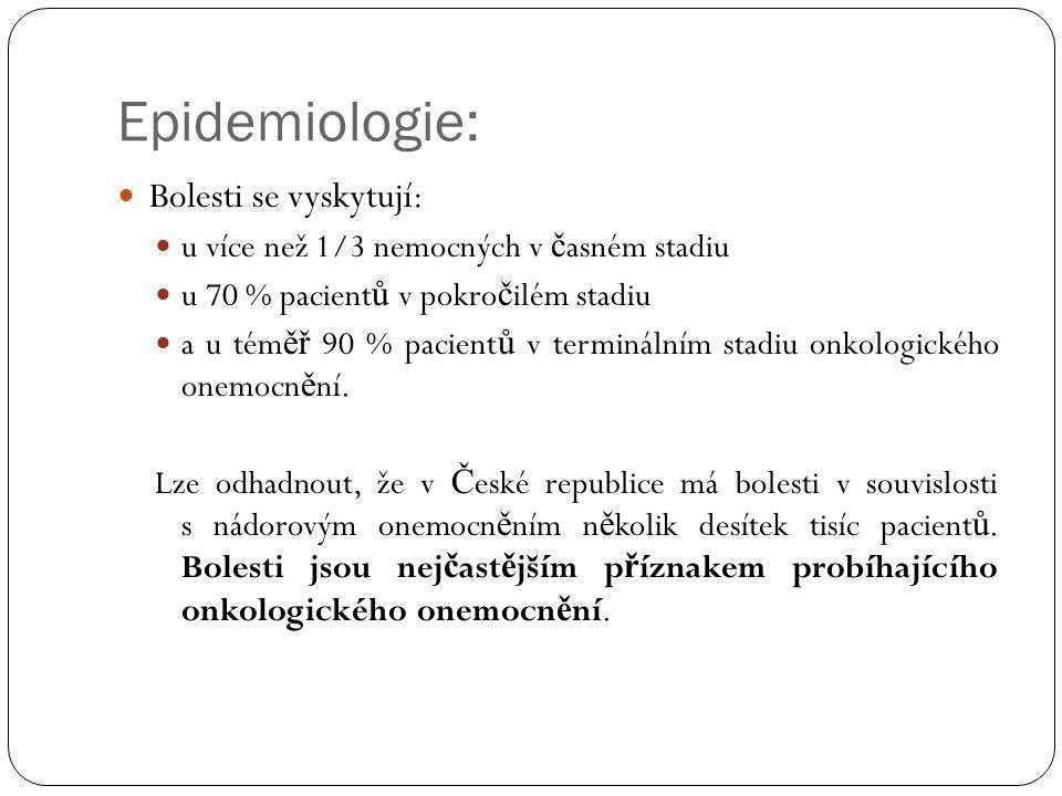 Epidemiologie: Bolesti se vyskytují: