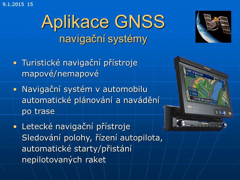 Aplikace GNSS navigační systémy