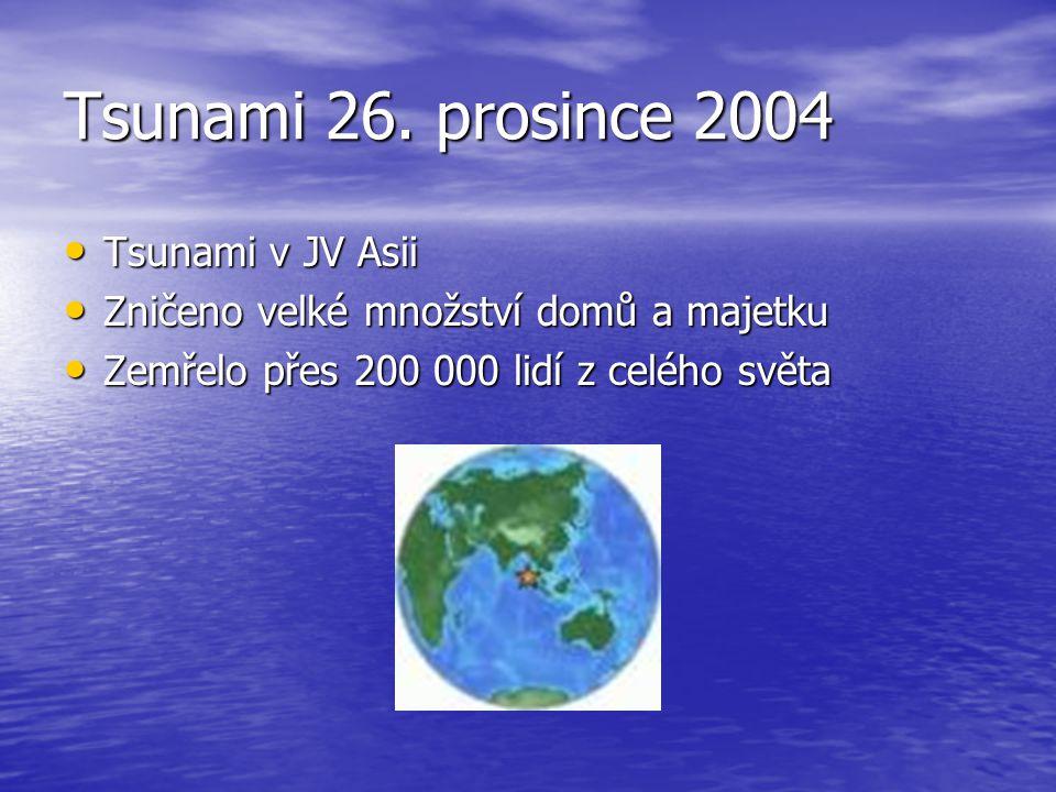 Tsunami 26. prosince 2004 Tsunami v JV Asii