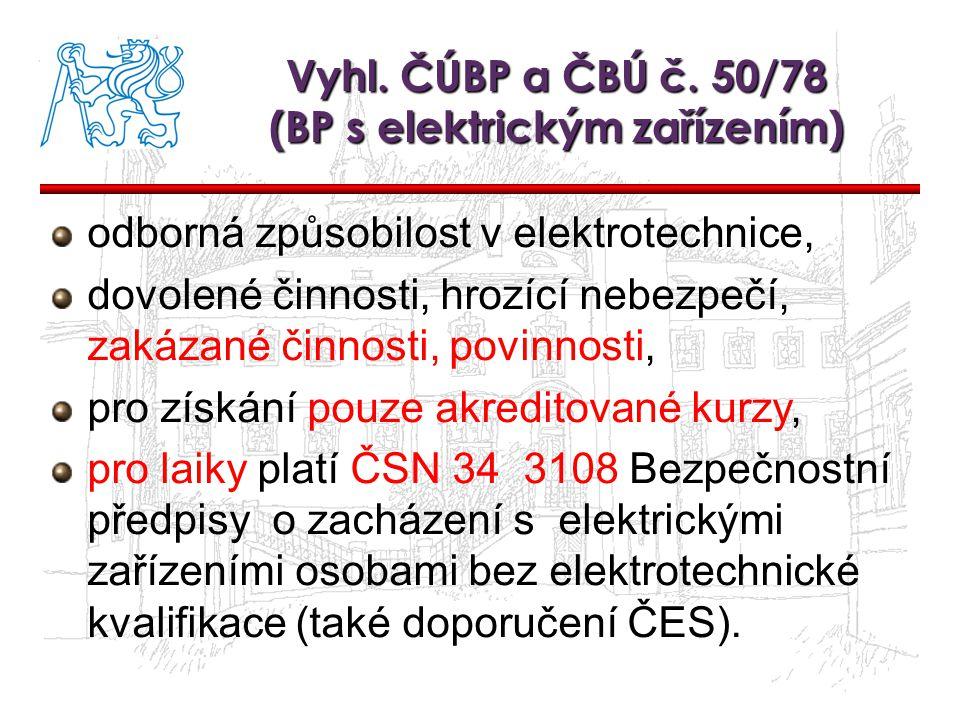 Vyhl. ČÚBP a ČBÚ č. 50/78 (BP s elektrickým zařízením)