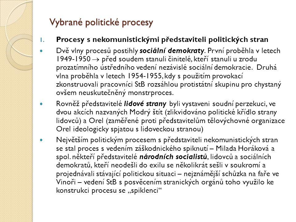 Vybrané politické procesy
