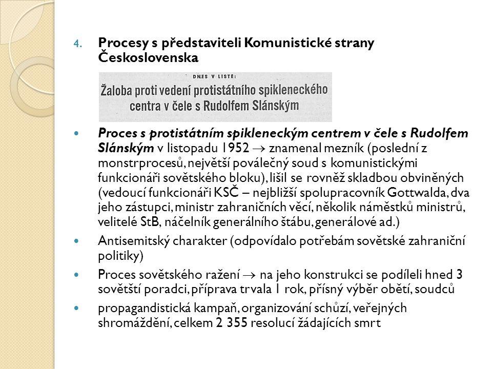 Procesy s představiteli Komunistické strany Československa