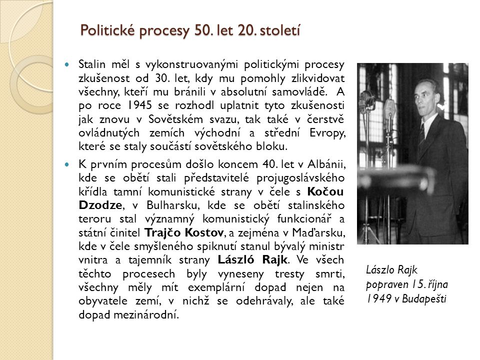 Politické procesy 50. let 20. století