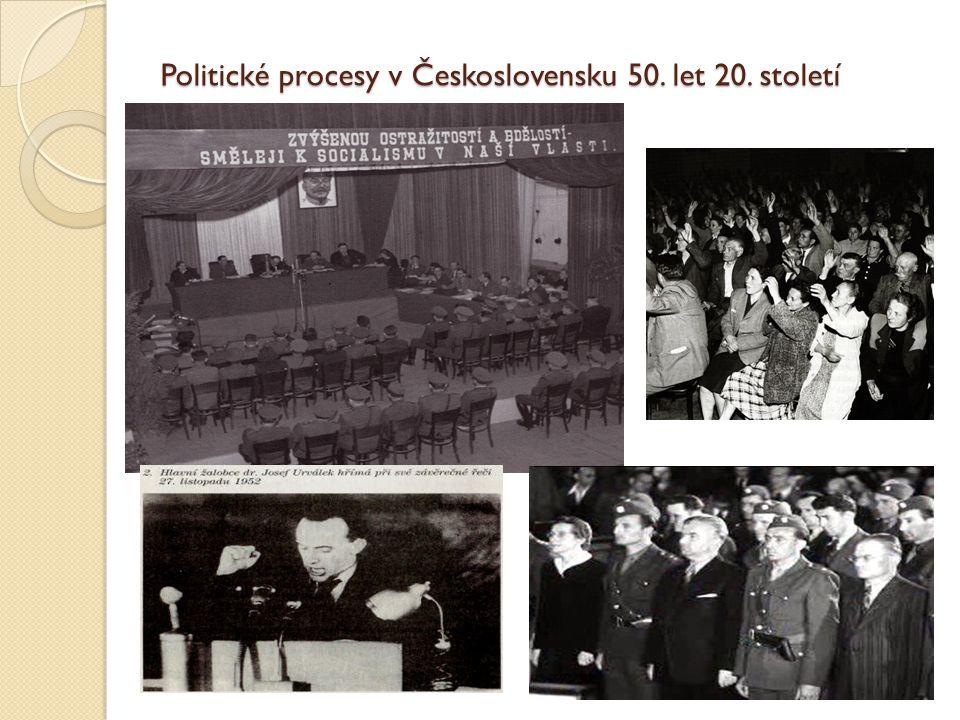 Politické procesy v Československu 50. let 20. století