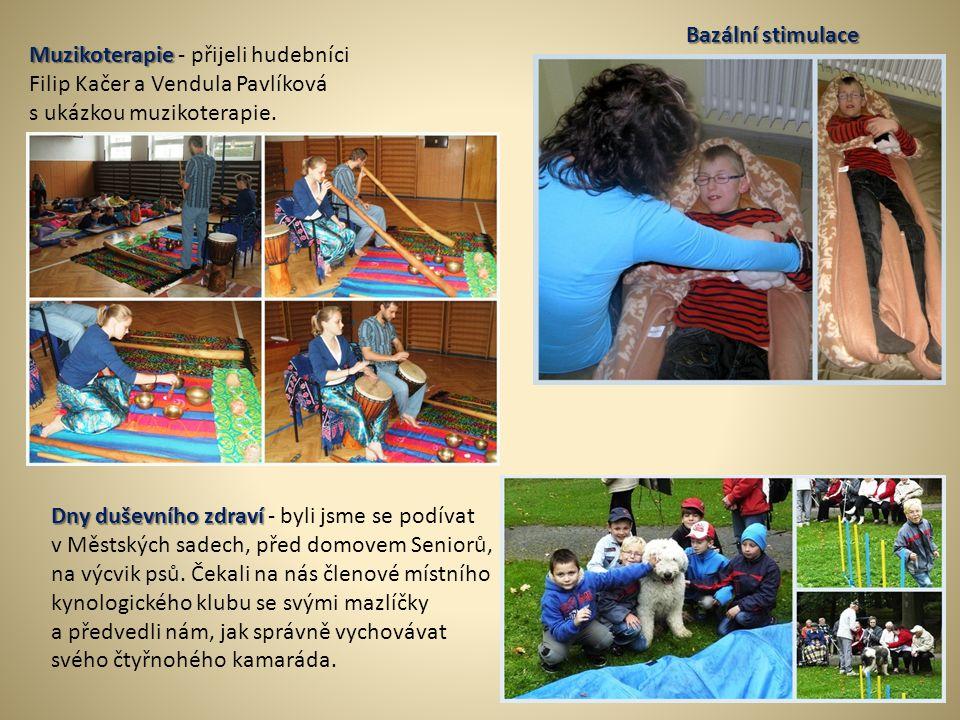 Bazální stimulace Muzikoterapie - přijeli hudebníci. Filip Kačer a Vendula Pavlíková. s ukázkou muzikoterapie.