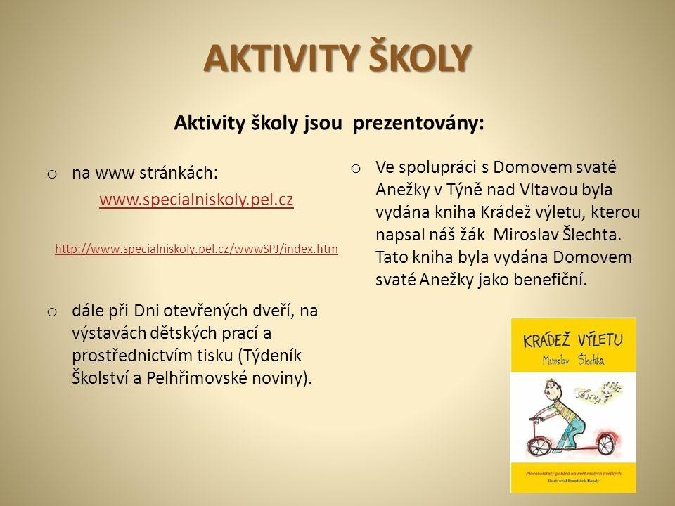 Aktivity školy jsou prezentovány: