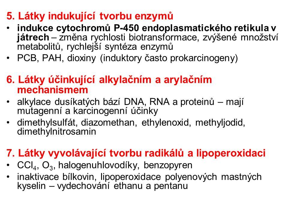 5. Látky indukující tvorbu enzymů