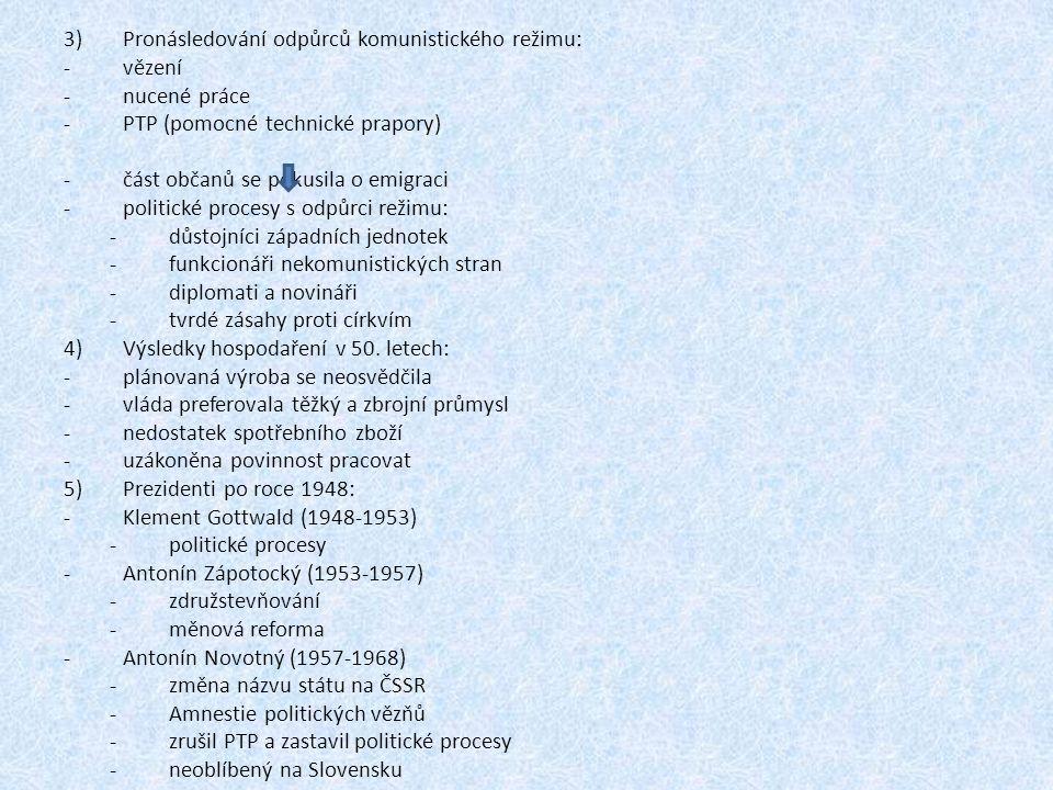 Pronásledování odpůrců komunistického režimu: