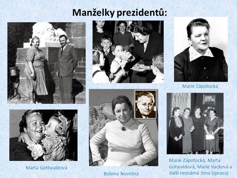 Manželky prezidentů: Marie Zápotocká