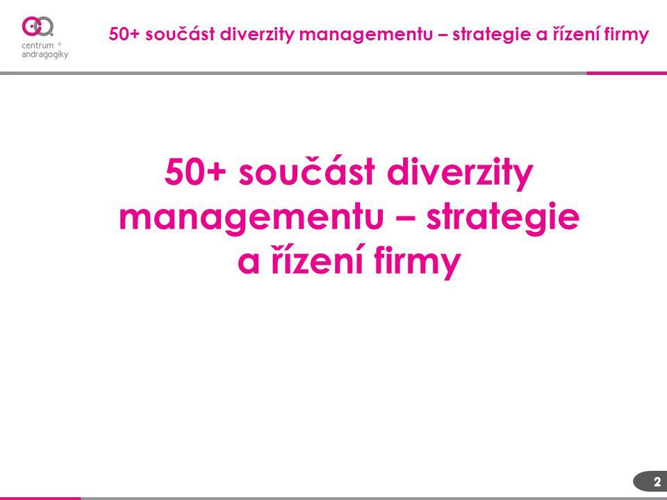 50+ součást diverzity managementu – strategie a řízení firmy