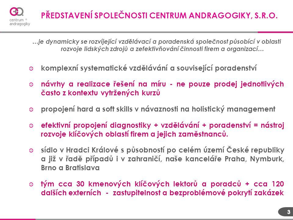 PŘEDSTAVENÍ SPOLEČNOSTI CENTRUM ANDRAGOGIKY, S.R.O.