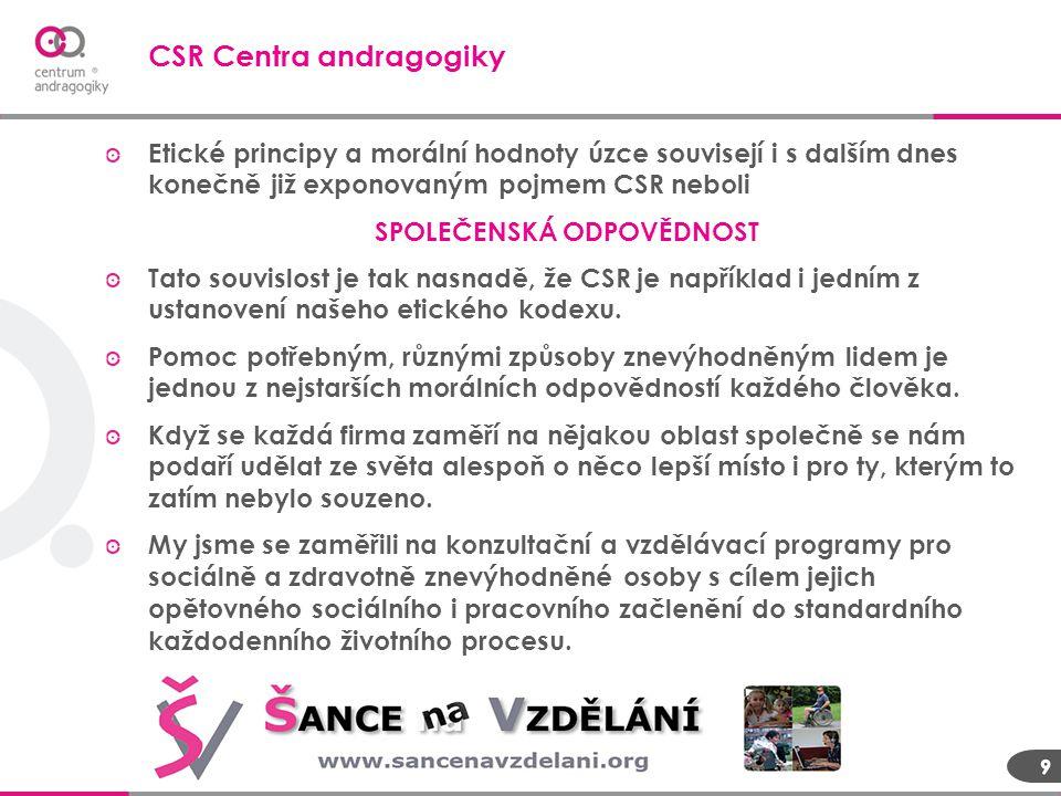CSR Centra andragogiky