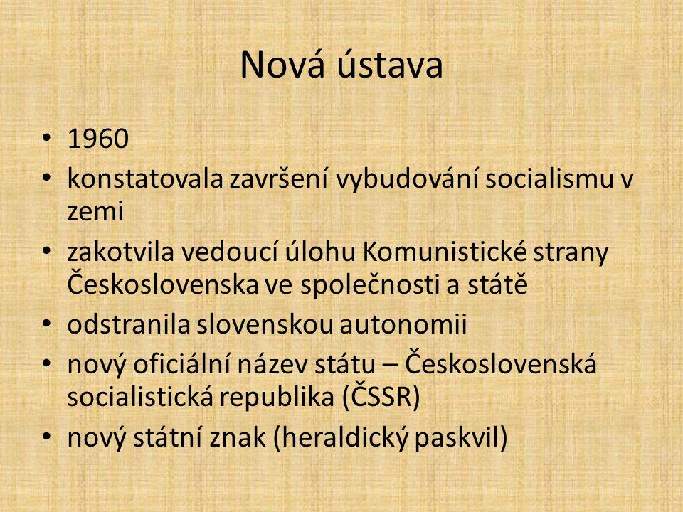 Nová ústava 1960 konstatovala završení vybudování socialismu v zemi