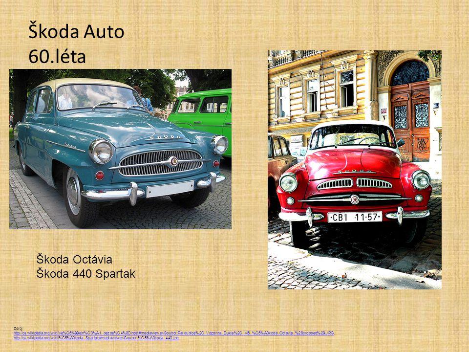 Škoda Auto 60.léta Škoda Octávia Škoda 440 Spartak