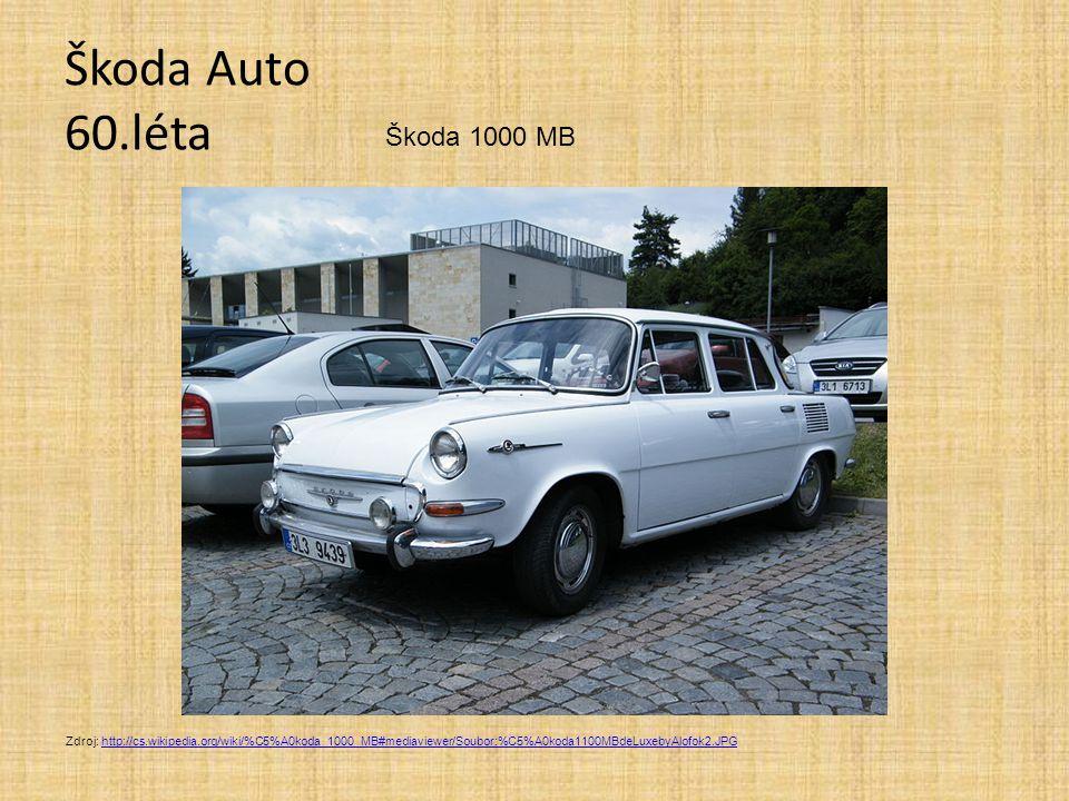 Škoda Auto 60.léta Škoda 1000 MB