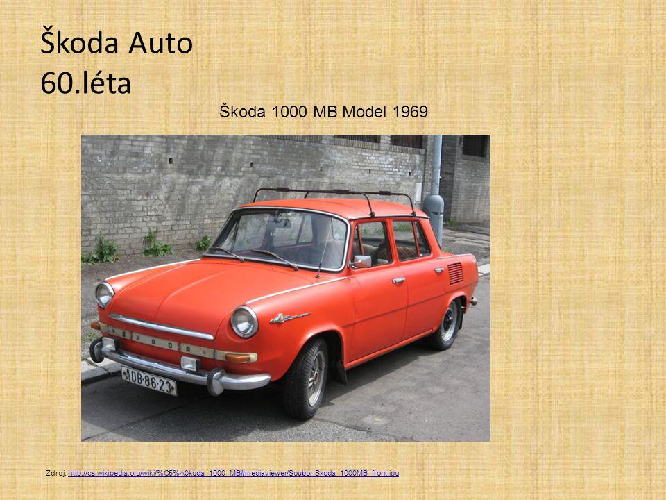 Škoda Auto 60.léta Škoda 1000 MB Model 1969