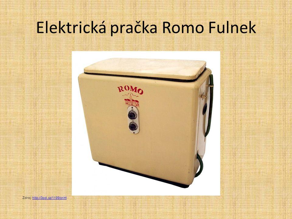 Elektrická pračka Romo Fulnek