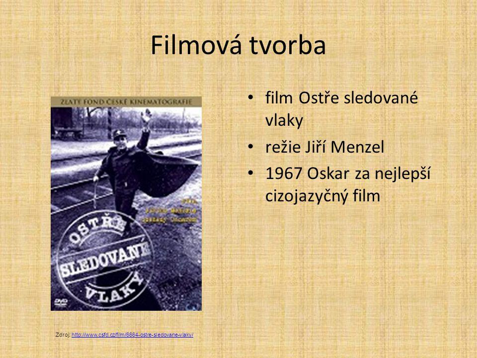 Filmová tvorba film Ostře sledované vlaky režie Jiří Menzel