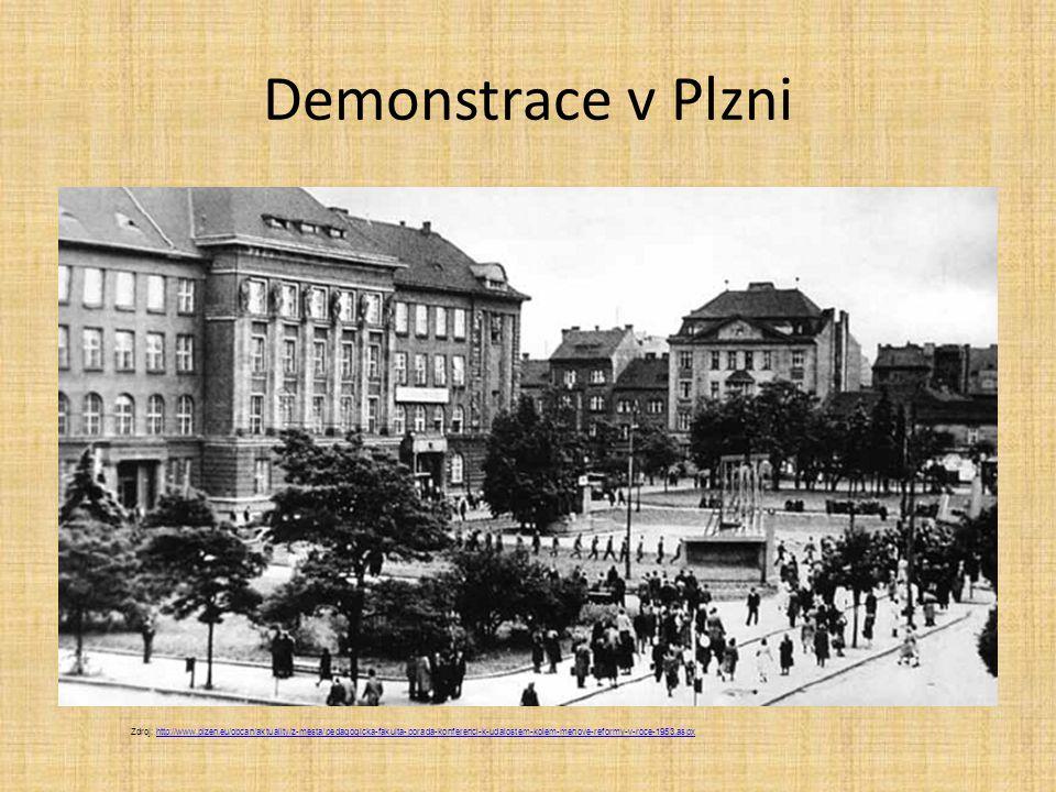 Demonstrace v Plzni