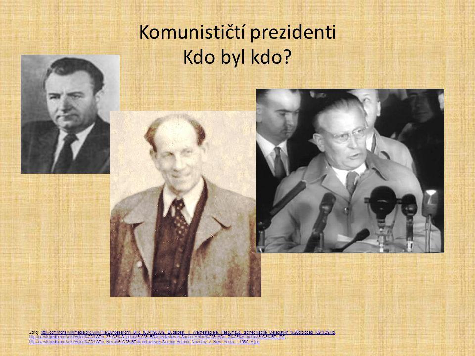 Komunističtí prezidenti Kdo byl kdo