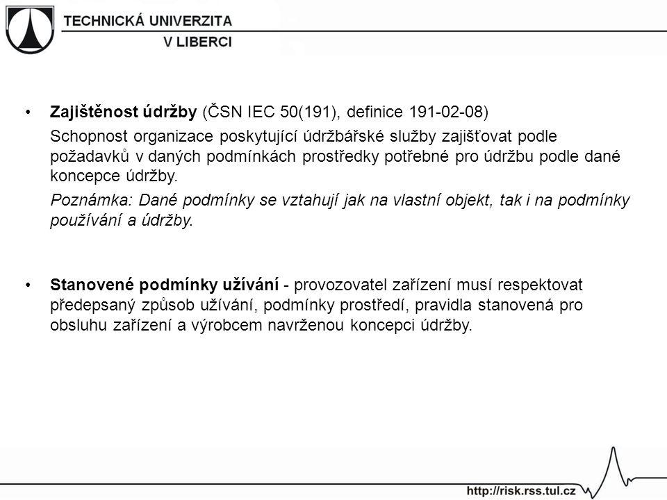Zajištěnost údržby (ČSN IEC 50(191), definice 191-02-08)