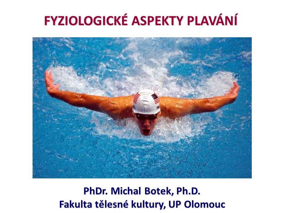 FYZIOLOGICKÉ ASPEKTY PLAVÁNÍ Fakulta tělesné kultury, UP Olomouc